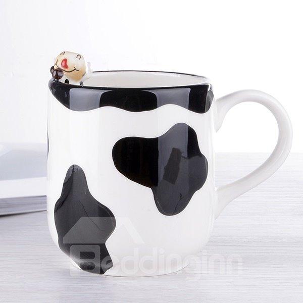 Unique 3D Cow Design Ceramic Coffee Mug