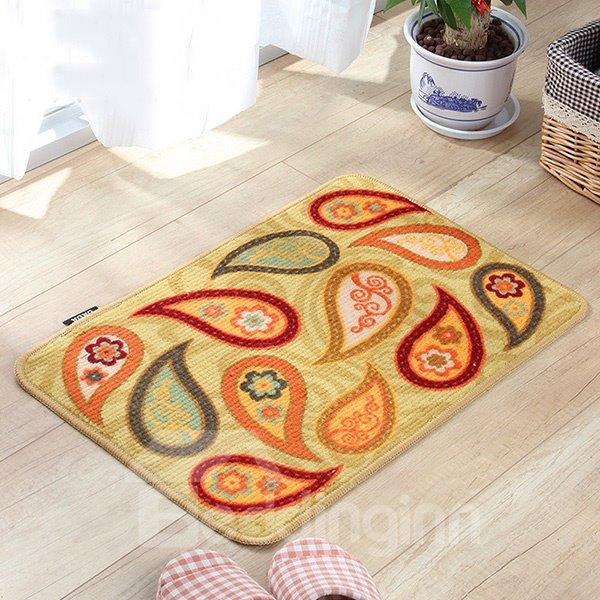 Classic Paisley Pattern Anti-Slipping Doormat