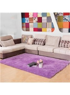 Modern Simple Plain Living Room Non-Slip Area Rug