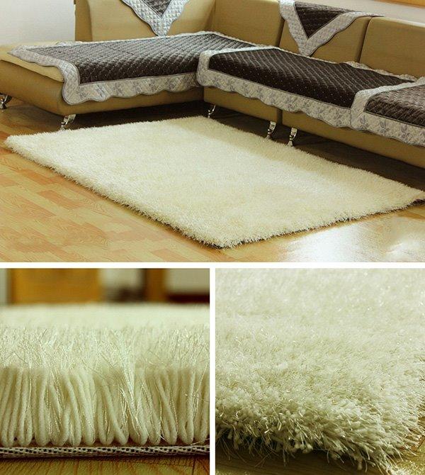 Modern Simple Plain Living Room Non-Slip Area Rug