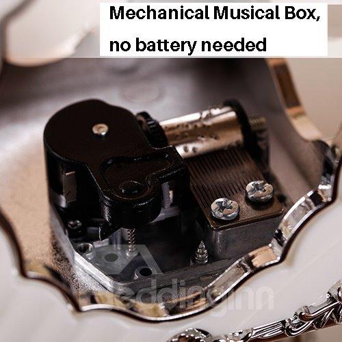 Gorgeous 4-Photo Revolving Musical Box Desk Photo Stand