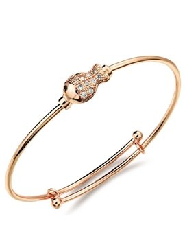 Women's Luxury Diamante Golden Fish Decoration Bangle