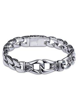 Men' s Vintage Titanium Steel Chain Bracelet