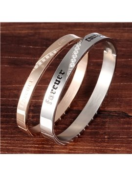 Couples'  Fashion Diamante Titanium Steel Bangle
