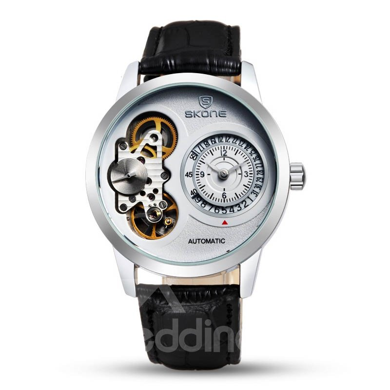 Mens Vogue Skeleton Automatic Self-Winding Waterproof Mechanical Watch