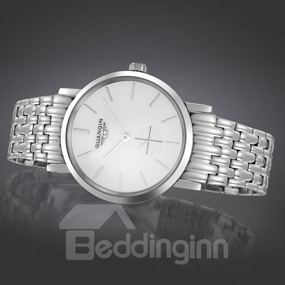Mens Fashion Automatical Self-Winding Waterproof Leather Band Watch