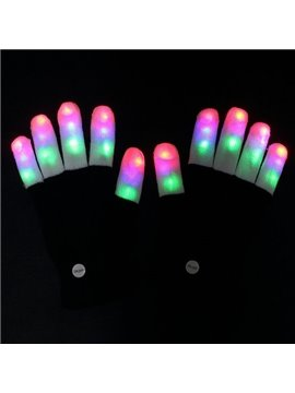 New Arrival Super Cool Colorful LED lighting Gloves