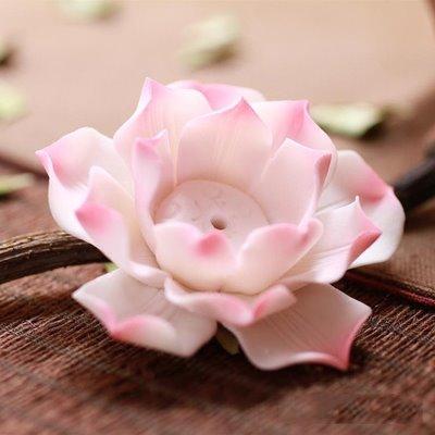 Stunning Ceramic Lotus Design Incence Holder Desktop Decoration