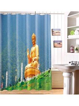 High Quality Peaceful Solemn Joss 3D Shower Curtain