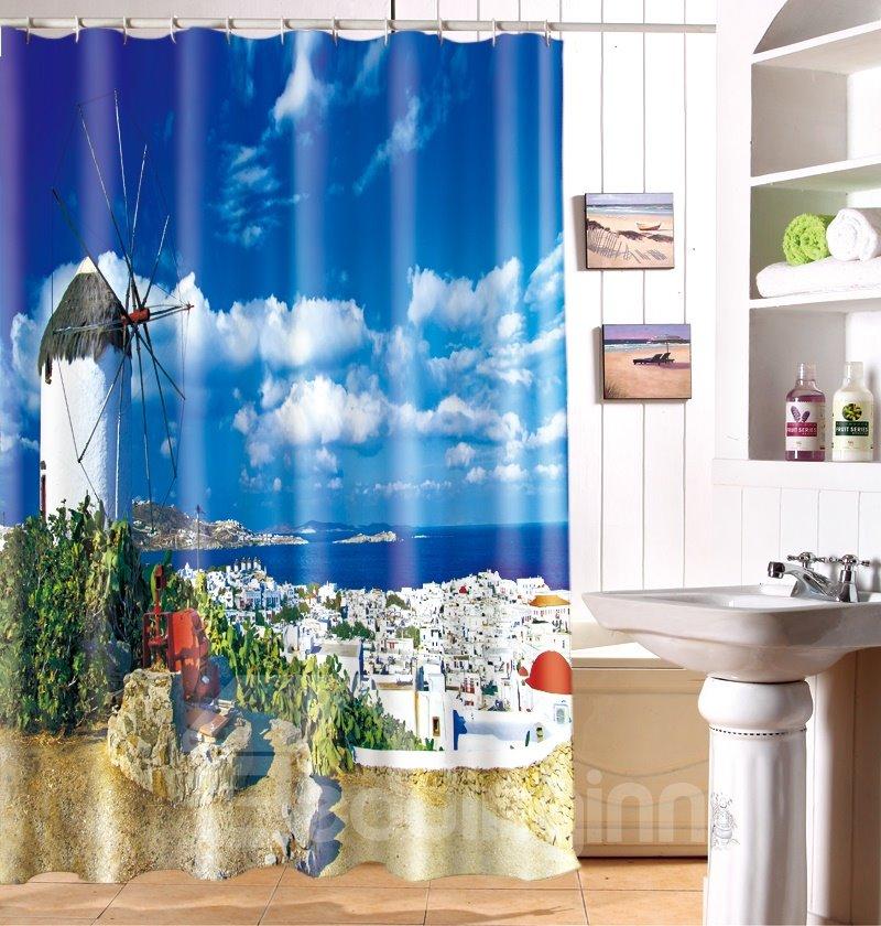 Unique Charming Idyllic Scenery 3D Shower Curtain