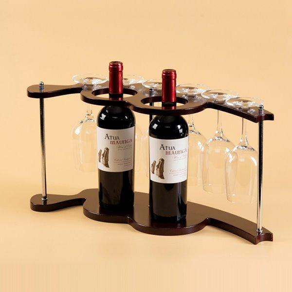 European Style Unqiue 2-Bottle Wine Rack & Bottle Holders