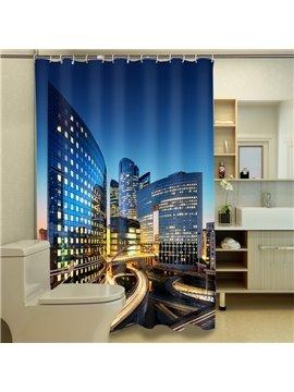 Special Design Modern City View 3D Shower Curtain