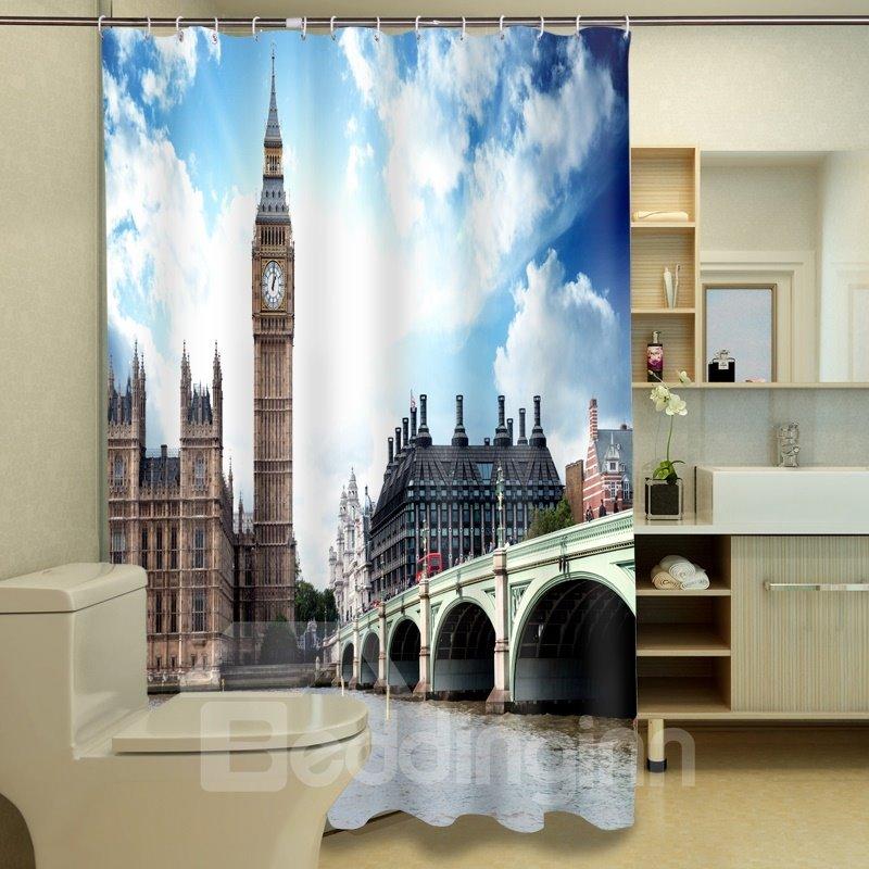 Glamorous Westminster Bridge Pattern 3D Shower Curtain