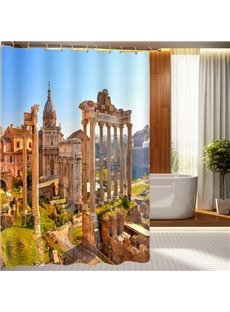 High Class Magnificent Ancient Architecture Pattern 3D Shower Curtain