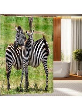 Durable Fabulous Zebra Pattern 3D Shower Curtain
