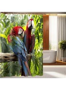 Superb Vivid Parrot Design 3D Shower Curtain