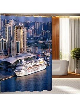 Modern Fashion Glamorous Steamship Pattern 3D Shower Curtain
