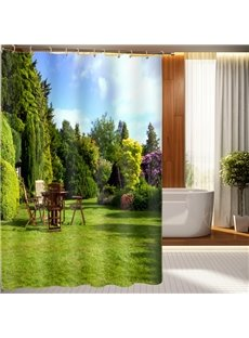Peaceful Picturesque Natural Scenery 3D Shower Curtain