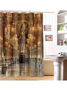 High Quality Luxury Aisle 100% Polyester 3D Shower Curtain