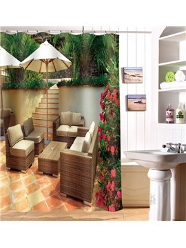Modern Design Cozy Chair 3D Shower Curtain