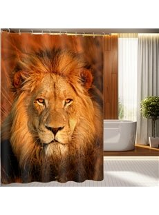 Novel Design Lion Image 3D Shower Curtain