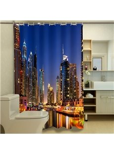 Fascinating City Night Scenery 3D Shower Curtain