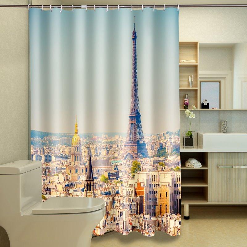 Unique The Eiffel Tower in Paris 3D Shower Curtain