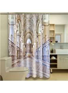 Magnificent Charming Aisle 100% Polyester 3D Shower Curtain