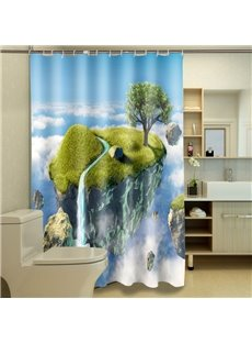 Fanciful Dreamy Isle Print 100% Polyester 3D Shower Curtain