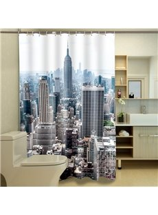 High Quality Unique Cityscape 3D Shower Curtain