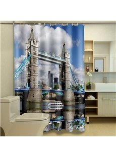 Stylish London Bridge Printed Waterproof 3D Shower Curtain