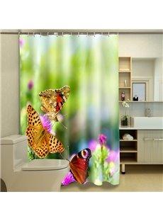 Vivid Gorgeous Butterflies Pattern 3D Shower Curtain