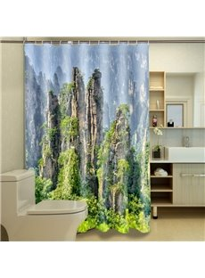Charming 3D Vivid Landscape Image 3D Shower Curtain