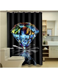 Glamorous Bright Diamond Polyester 3D Shower Curtain