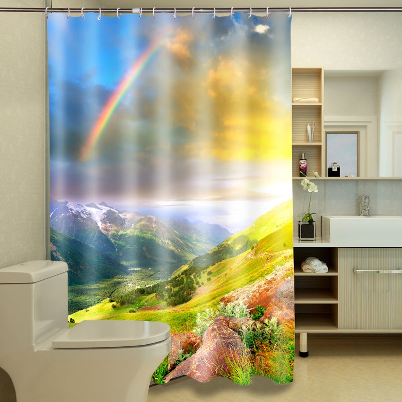 Amazing Gorgeous Natural Scenery 100% Polyester 3D Shower Curtain