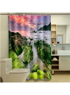Superior Peaceful Natural Scenery Polyester 3D Shower Curtain