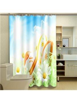 Fresh American Style Lovely Floret 3D Shower Curtain