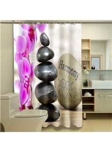 High-grade Unique Style Stones Pattern 3D Shower Curtain