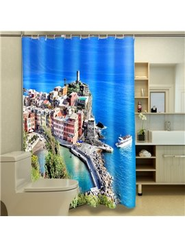 Glamorous Seaside City Pattern 3D Shower Curtain