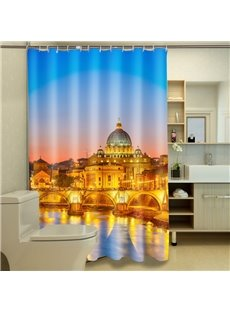 Luxury Glorious Castle 100% Polyester 3D Shower Curtains