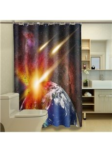 Unique Incredible Interstellar Space 100% Polyester 3D Shower Curtains