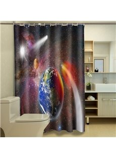 Dreamlike Interstellar Space Polyester 3D Shower Curtain