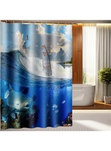 Magic Underwater Ocean Scenery Polyester 3D Shower Curtain