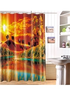 New Arrival Mysterious Desert Oasis 3D Shower Curtain