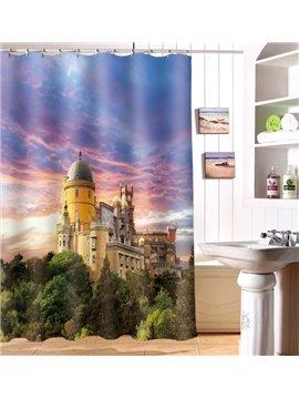 Popular Decorative Beautiful Castle 3D Shower Curtain