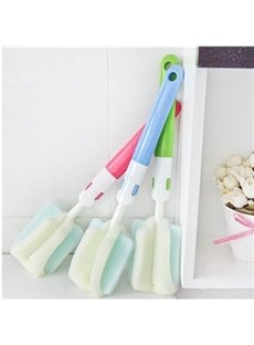Versatile Dual Headed Long Handle Sponge Bottle Glass Cleaner
