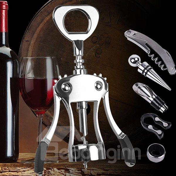 Stainless Steel Corkscrew Wine Opener 5-Piece Set