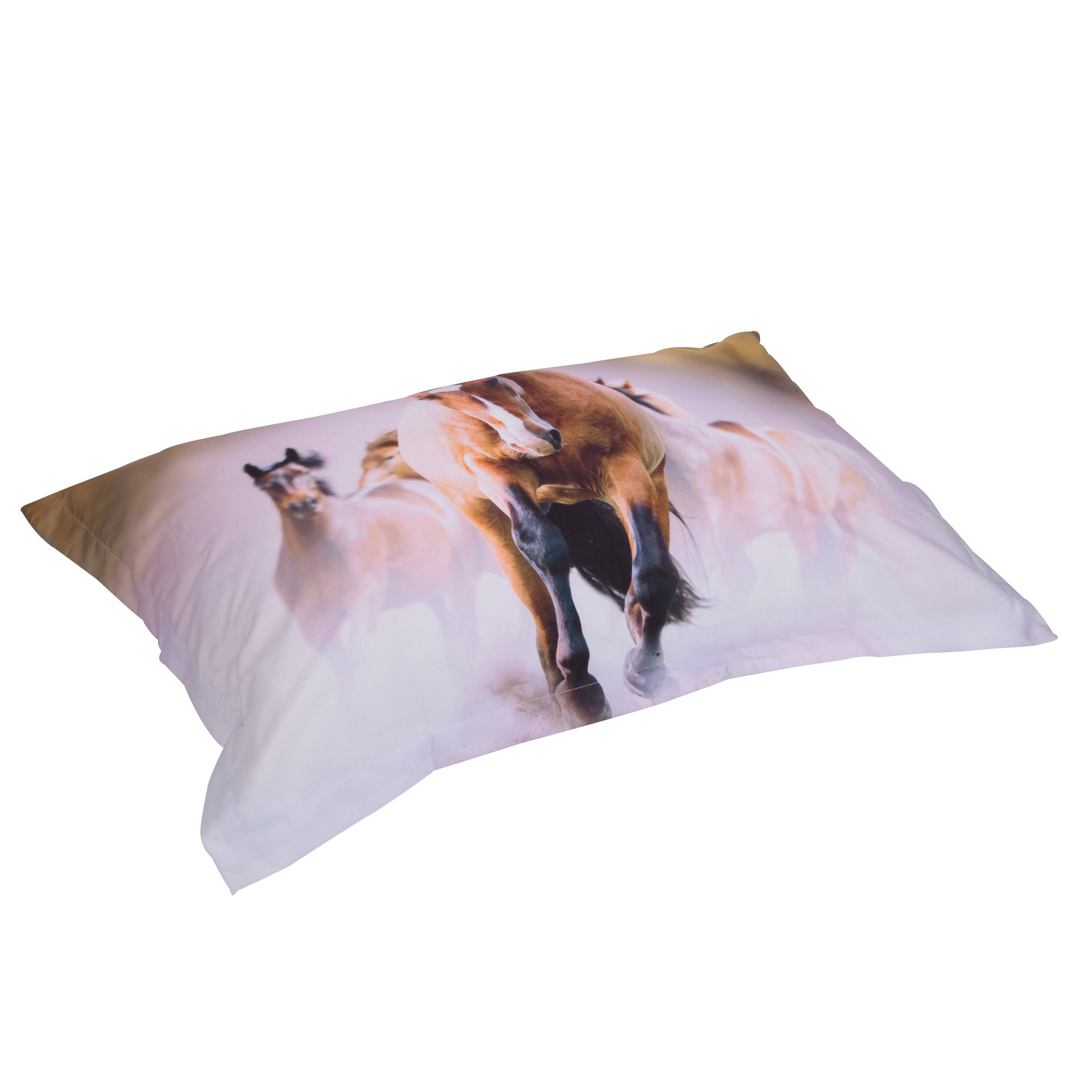 3D Running Horses Printed 4-Piece Bedding Sets/Duvet Covers