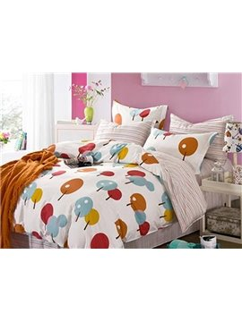 Creative Multicolored Fruit 4-Piece Cotton Duvet Cover Sets