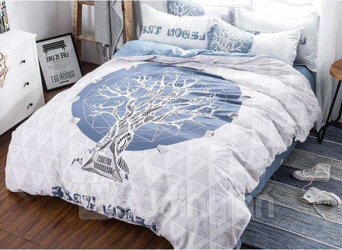 High Class Mysterious Tree 4-Piece Cotton Duvet Cover